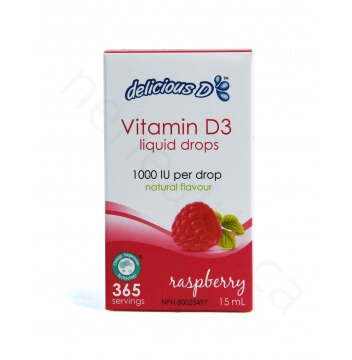 Delicious D Vitamin D3 Raspberry Drops